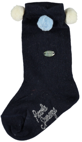 Piccola Speranza Boys Navy Pom Pom Socks